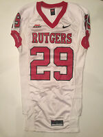 2006 NIKE RUTGERS GAME ISSUED WORN SCARLET KNIGHTS FOOTBALL USED JERSEY #29