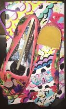 IRREGULAR CHOICE Flat Shoes Coral Peach Size 3 36 Bird Print New Boxed Floral