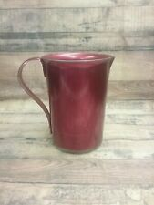 Vintage Red Aluminum Pitcher w/ Handle