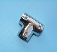 "Boat / Marine Rail 1"" 90 Degree Rail Fitting Stainless Steel Tee"