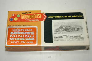 Roundhouse HO Old Timer Series 3-in-1 Craft Kit 1502 3 26' Flat Cars (Lot A)