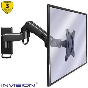 "Invision MX250 Monitor Wall Mount Bracket for PC TV Monitors 17–27"" VESA 75/100"