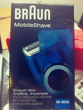 Braun Mobile Shave M-60b Cordless Pocket Travel Men's Electric Shaver AA Battery