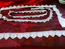lot de dentelles faites main crochet coton  pour literie ,taie et traversin
