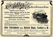 Adler Fahrradwerke vorm. H. Kleyer Frankfurt a.M. Adler Schreibmaschine 1903