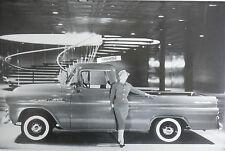 "12 By 18"" Black & White Picture 1958 Chevrolet Apache Fleetside Pickup"