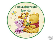 Baby Pooh edible cake image cake topper decoration baby shower decoration