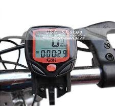 New Waterproof Bicycle Cycle Wireless LCD Digital Computer Speedometer Odometer