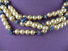 Modeschmuck-Ketten aus Perlen und Metall-Legierung