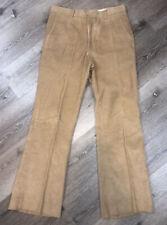 Vtg 70s Levis Panatela Wildfire Mens Pleated Corduroy Pants Size 33x32