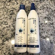 NEW~ MATRIX BIOLAGE Blue Agave FINISHING ~ SPRITZ & GEL ~ 16.9OZ