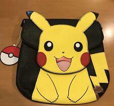 Loungefly Pikachu Faux Leather Cross Body Messenger Bag Purse Pokemon, NWT