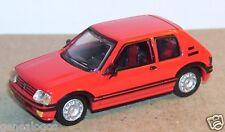 UNIVERSAL HOBBIES UH  idem NOREV METAL HO 1/87 PEUGEOT 205 GTI 1984 ROUGE
