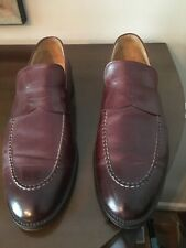 Peter Millar Size 12 Men's Brown Leather Loafer Shoes