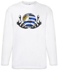 Uruguay Football Magic Ball Herren Langarm T-Shirt uruguayische Flagge Fußball