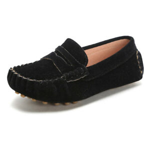 Little Kids Penny Loafers Flat Heel Slip On Toddlers Shoes for Boys Girls Causal