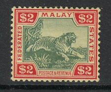 FEDERATED MALAY STATES-1934 $2 Green & Red Yellow. Sg79 - Mounted mint