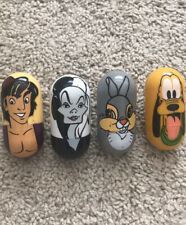 Disney Kellogg Weeble Wobbler Collectible Set Four Aladdin Cruella Pluto Thumper