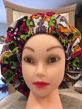 Ankara Satin Lined African Bonnet/ Womens Hat