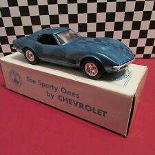 1970 Chevrolet Corvette cpe,1/25 scale,Dealership promo model,Bridgehampton Blue