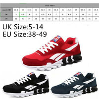MENS  PUMPS RUNNING TRAINERS LACE UP MESH CASUAL SPORTS SHOES BREATHABLE