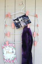 Vtg 4 Tier Clothes Hanger Rack Clips Pants Skirts Pictures Scarves Pink Hooks