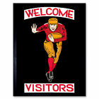 Rugby Welcome Visitors Vintage Wall Art Print Framed 12x16