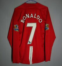 MANCHESTER UNITED 2007 2008 2009 HOME LONG SLEEVE JERSEY SHIRT #7 RONALDO SIZE M