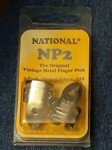 National Original Vintage Nickel Silver Finger Picks Set of 4, NP2-4PK