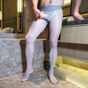 Men Shiny Pantyhose Elasticity Glossy Body Stockings Sheer Tights Plus 200lbs
