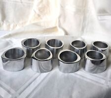 "8 Minimalist Napkin Holders Aluminum 1 1/4"" Width - In Excellent Condition"