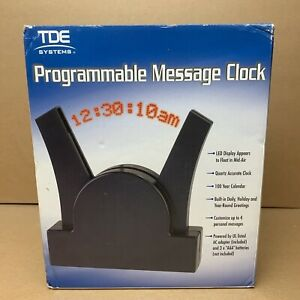 TDE Systems Programmable Red LED Message Clock - Floating Message