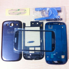 Blue Replacement Housing Case + Screen Glass Tools For Samsung Galaxy S3 i9300