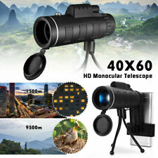 40X60 Zoom Optical HD Lens Monocular Telescope + Tripod + Clip for Cell Phone