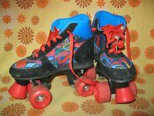 Ancienne PAIRE de PATINS CHAUSSURES A ROULETTES T32 Roller Skates Patin Vintage