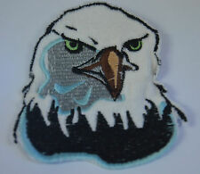 AMERICAN BALD EAGLE HEAD  Embroidered Sew Iron On Cloth Patch Badge Jacket NEW