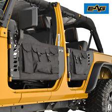 EAG Steel Tube Door With Storage Bags & Mirror for 07-18 Jeep Wrangler JK 4 Door