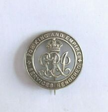 WW1 British Military Silver Wound Badge Number B 42212