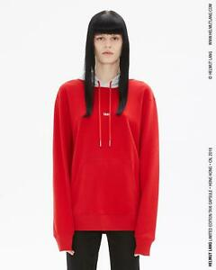 NWT Helmut Lang Red and Gray Taxi Hoodie XS Women's XXS men