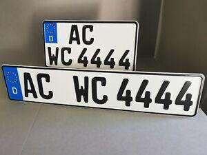 2 Kennzeichen LKW, Anhänger Unimog, Traktor, vorne 520 x 110 hinten 255 x 130 mm