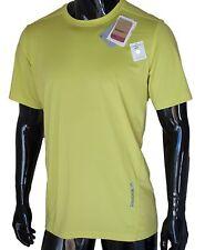 Reebok CrossFit Short Sleeve Shirt Training Stretch Top Sport Yellow Mens Large