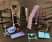 MONSTER HIGH School Playset & Beast Bites Doll House Parts/Pieces Accessories