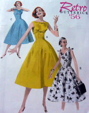 1950s DRESS BUTTERICK RETRO SEWING PATTERN 6-8-10-12 UC
