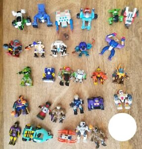 28 Vintage Galoob Z-Bots Figure Lot Transform Robots Micro Machines 90's Other