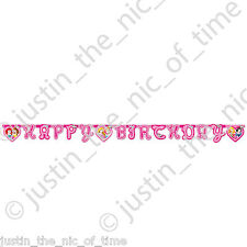 DISNEY PRINCESS Happy Birthday Girls Pink Party JOINTED LETTER BANNER