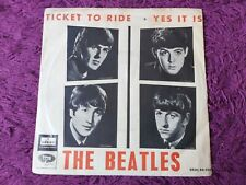 """The Beatles – Ticket To Ride Vinyl 7"""" Single 1965 Spain DSOL 66.064 FIRST ISSUE"""