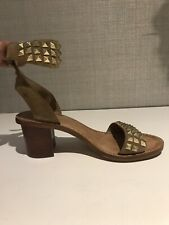 Ash Sandals for woman, 37,beige Suede Embelished Sandals, With Gold Tone Studs