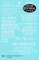 K4 G 1:24 Decals New York Central 40 Ft Boxcar White