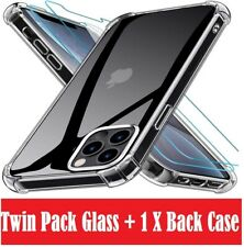 CLEAR Case & Tempered Glass SCREEN PROTECTOR For Apple iPhone 12,Mini,Pro Max