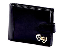 100% Leather Wallet with Theatre Motif - Music Gift - Gift for Actors